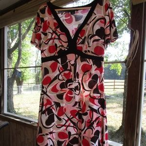 Elementz Print Midi Dress Medium Petite